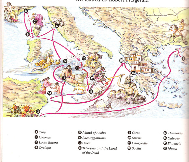 MapStory Summaries The Odyssey – Odyssey Travel Map